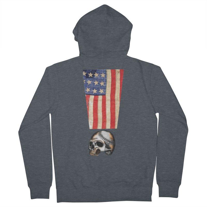 American Baseball Fan Men's Zip-Up Hoody by Lads of Fortune Artist Shop