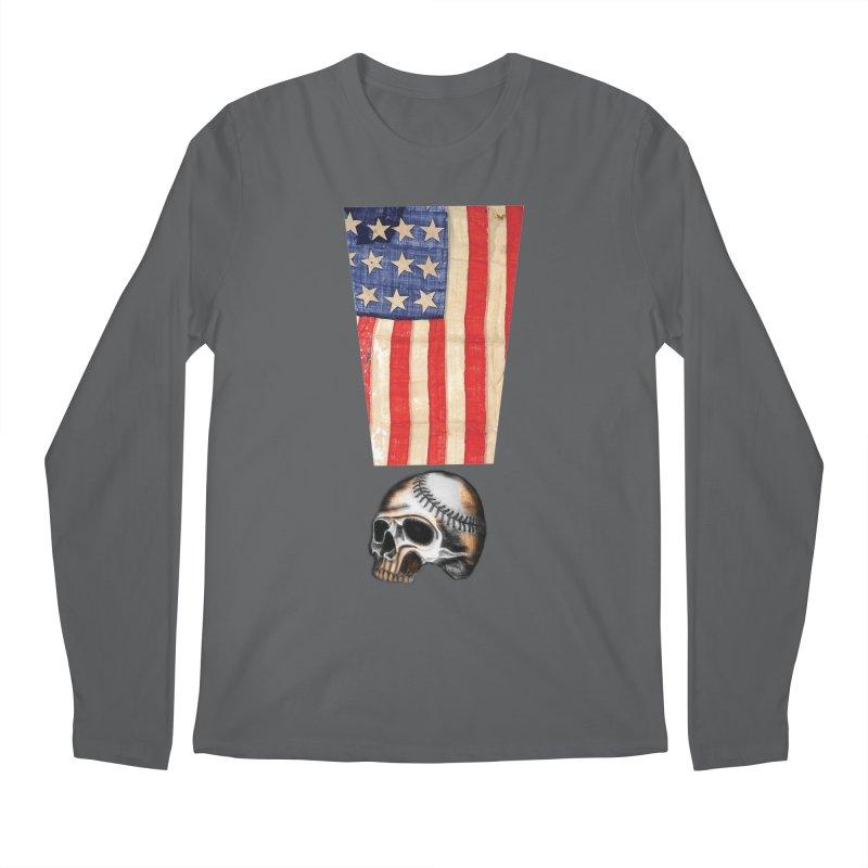American Baseball Fan Men's Regular Longsleeve T-Shirt by Lads of Fortune Artist Shop