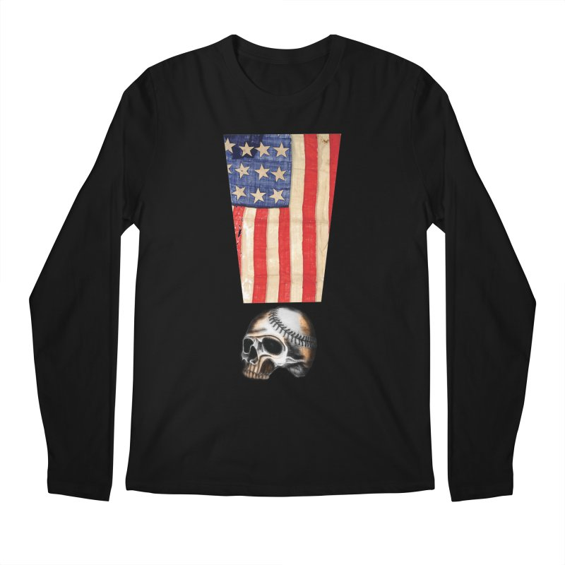 American Baseball Fan Men's Regular Longsleeve T-Shirt by Lads of Fortune Artist Shop