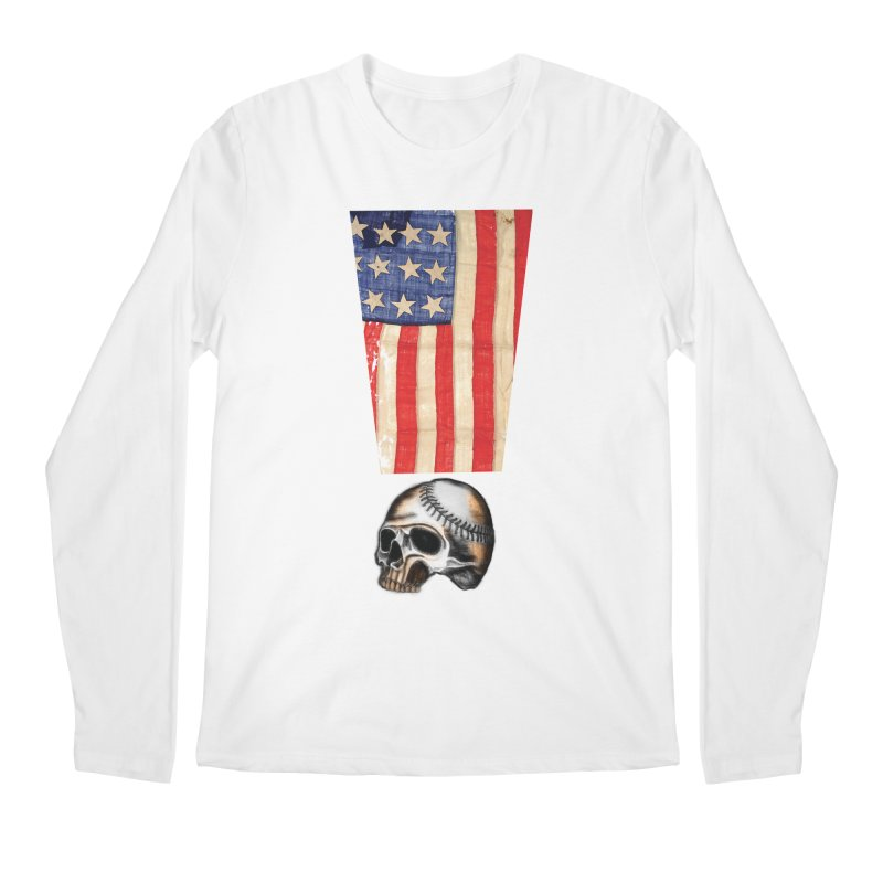 American Baseball Fan Men's Longsleeve T-Shirt by Lads of Fortune Artist Shop