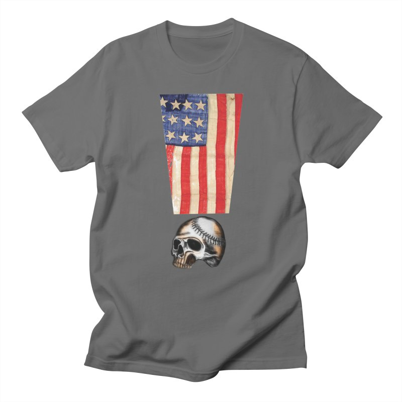 American Baseball Fan Men's T-Shirt by Lads of Fortune Artist Shop