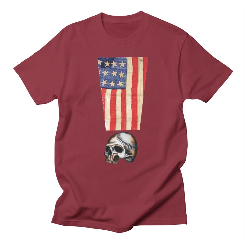 American Baseball Fan Men's Regular T-Shirt by Lads of Fortune Artist Shop