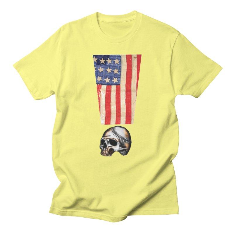 American Baseball Fan Men's Regular T-Shirt by Lads of Fortune Artist Shop