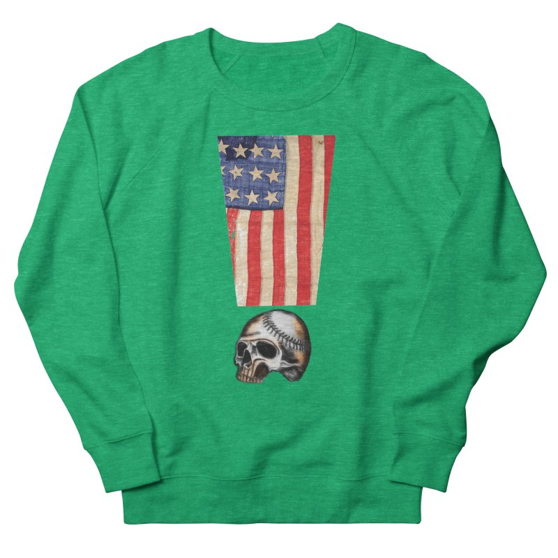 American Baseball Fan Women's French Terry Sweatshirt by Lads of Fortune Artist Shop
