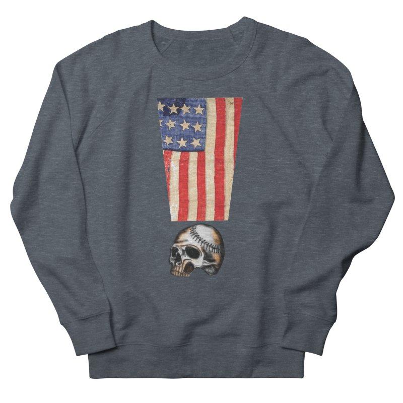 American Baseball Fan Women's Sweatshirt by Lads of Fortune Artist Shop