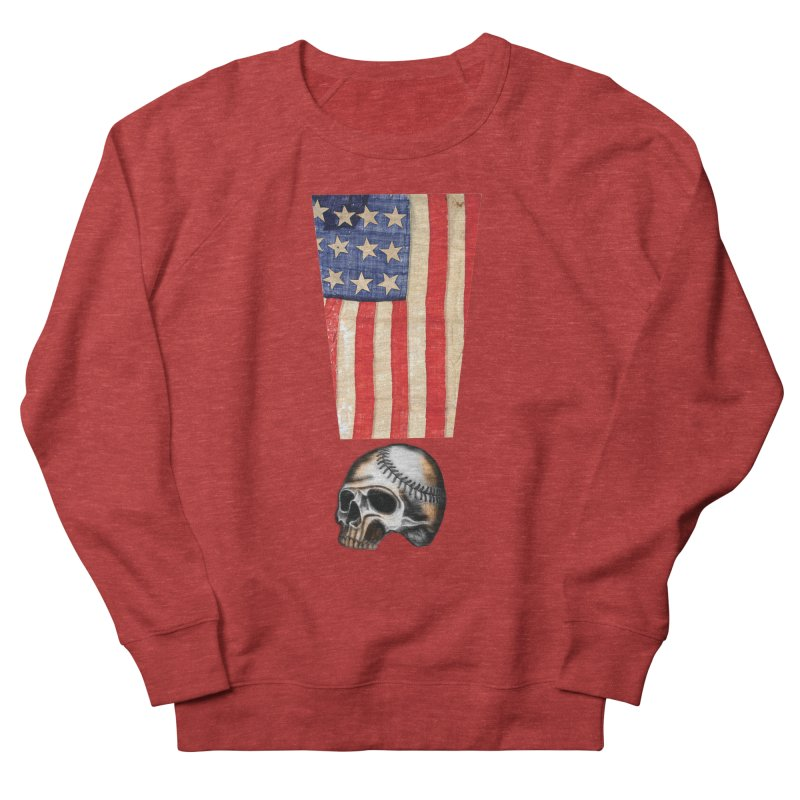American Baseball Fan Women's French Terry Sweatshirt by Lads of Fortune Artist Shop