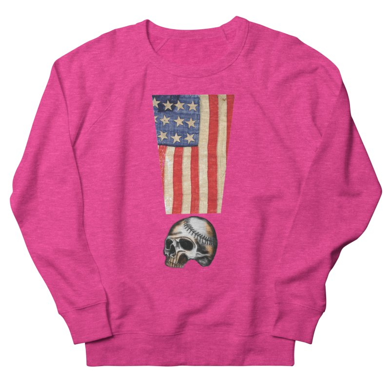 American Baseball Fan Women's Sweatshirt by Lads of Fortune Artist Shop