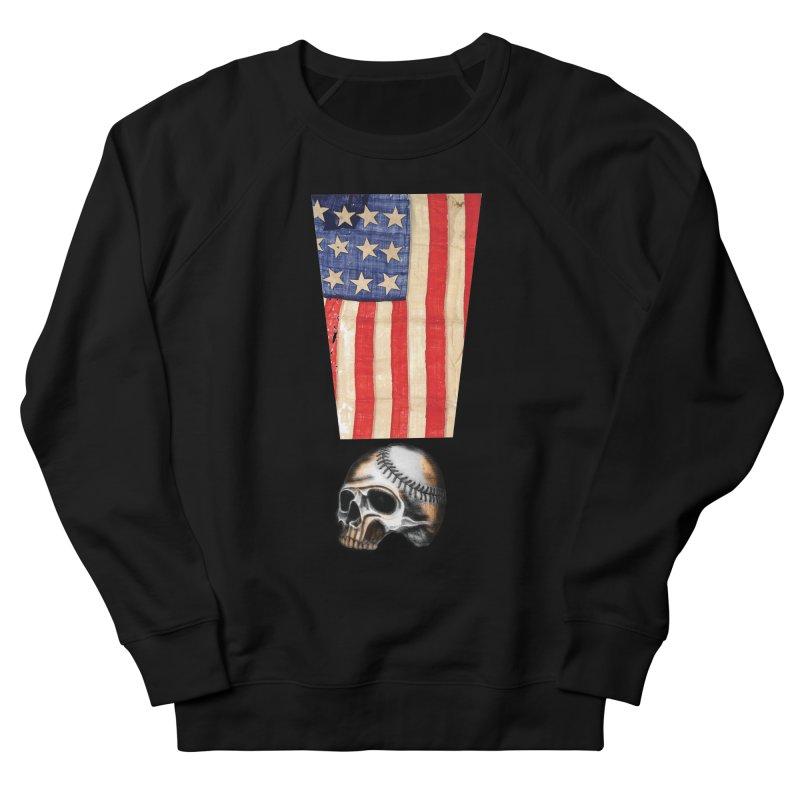 American Baseball Fan Men's French Terry Sweatshirt by Lads of Fortune Artist Shop