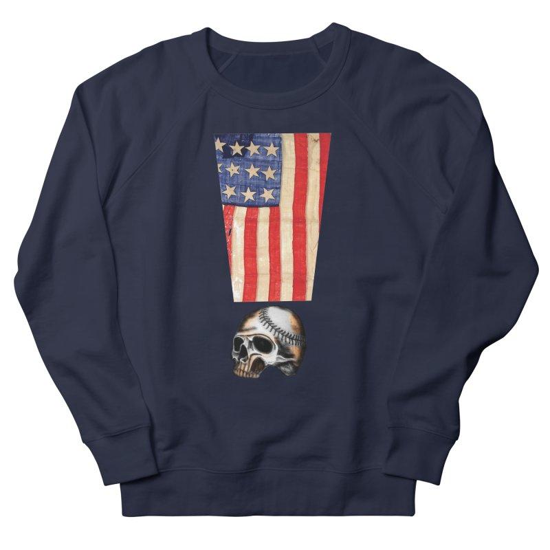 American Baseball Fan Men's Sweatshirt by Lads of Fortune Artist Shop