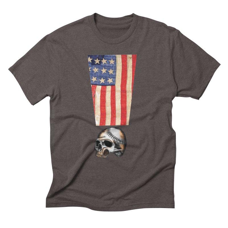 American Baseball Fan Men's Triblend T-Shirt by Lads of Fortune Artist Shop