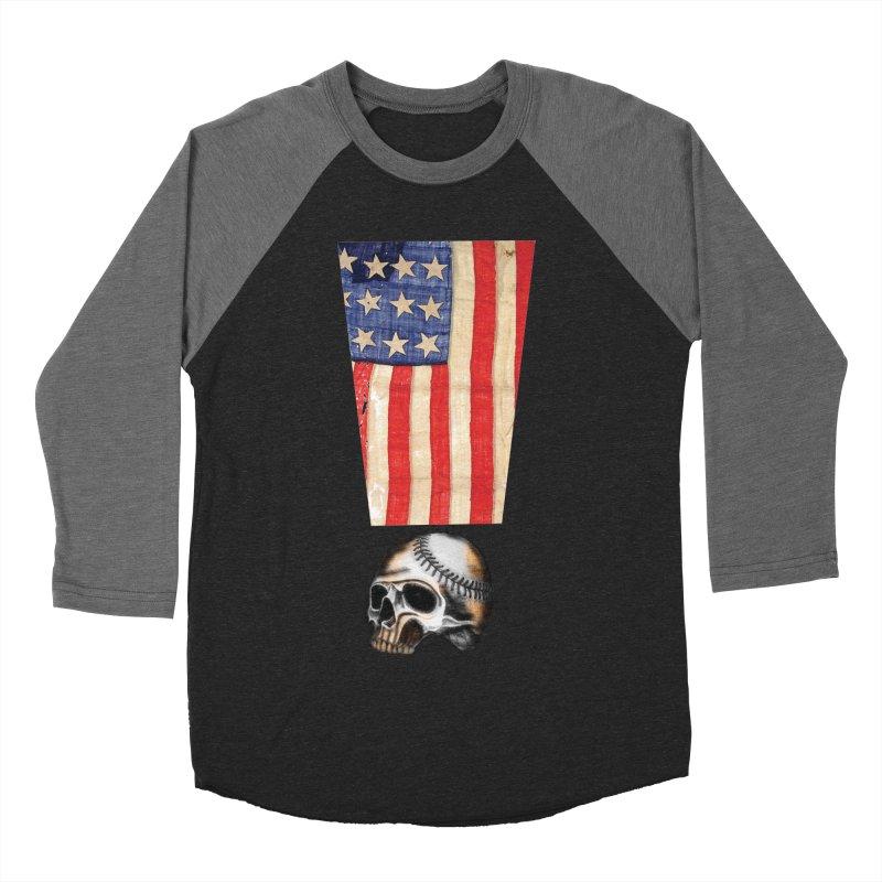 American Baseball Fan Women's Baseball Triblend T-Shirt by Lads of Fortune Artist Shop