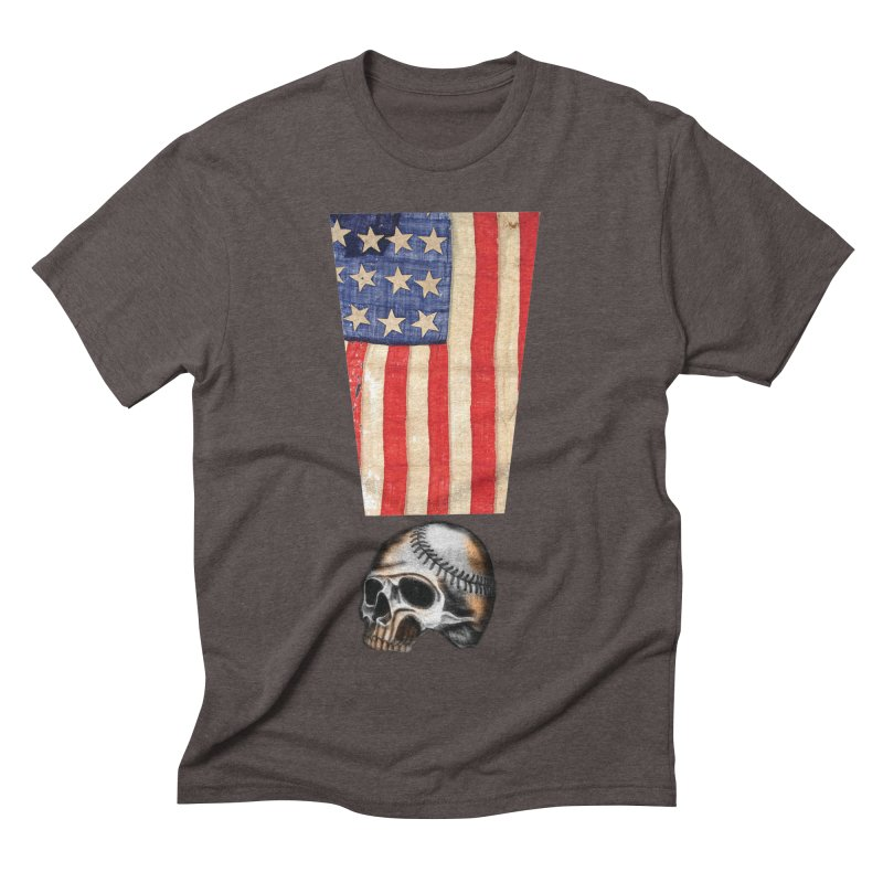 American Baseball Fan Men's Triblend T-shirt by Lads of Fortune Artist Shop