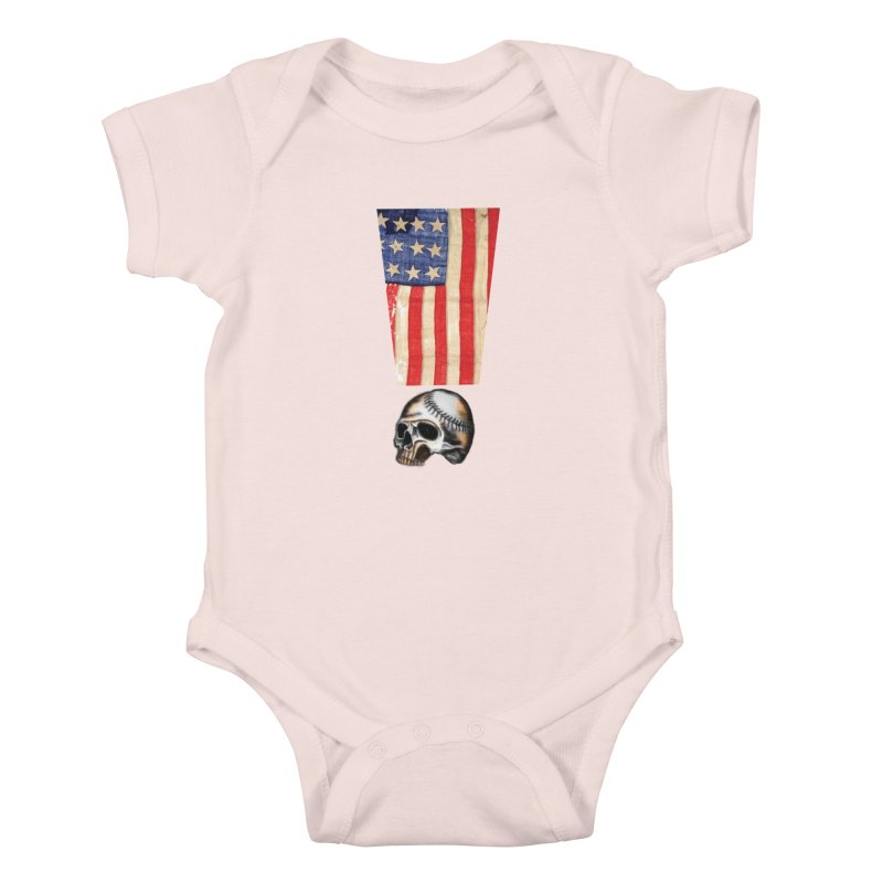 American Baseball Fan Kids Baby Bodysuit by Lads of Fortune Artist Shop