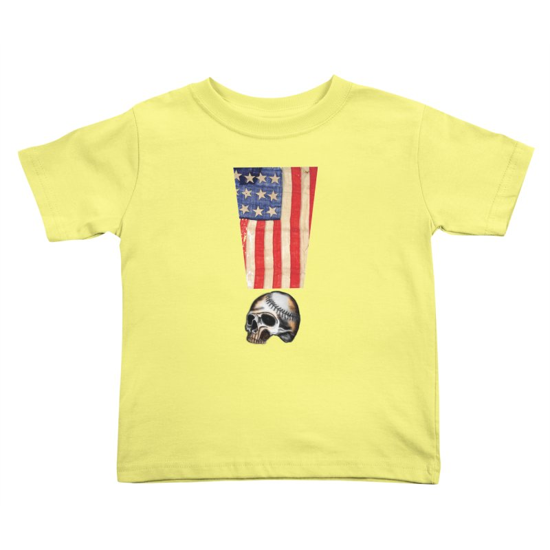 American Baseball Fan Kids Toddler T-Shirt by Lads of Fortune Artist Shop