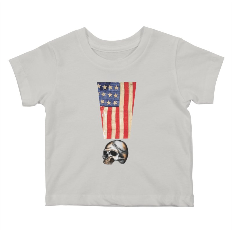 American Baseball Fan Kids Baby T-Shirt by Lads of Fortune Artist Shop