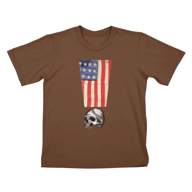 American Baseball Fan Kids T-shirt by Lads of Fortune Artist Shop
