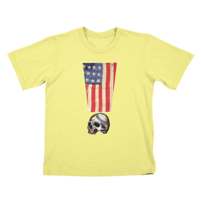American Baseball Fan Kids T-shirt by Lads of Fortune Artist Shop
