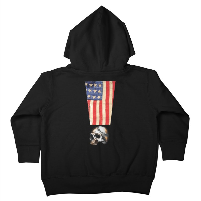 American Baseball Fan Kids Toddler Zip-Up Hoody by Lads of Fortune Artist Shop