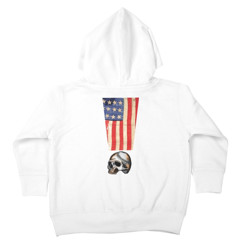American Baseball Fan Kids Toddler Zip-Up Hoody by Lads of Fortune Artist Shop