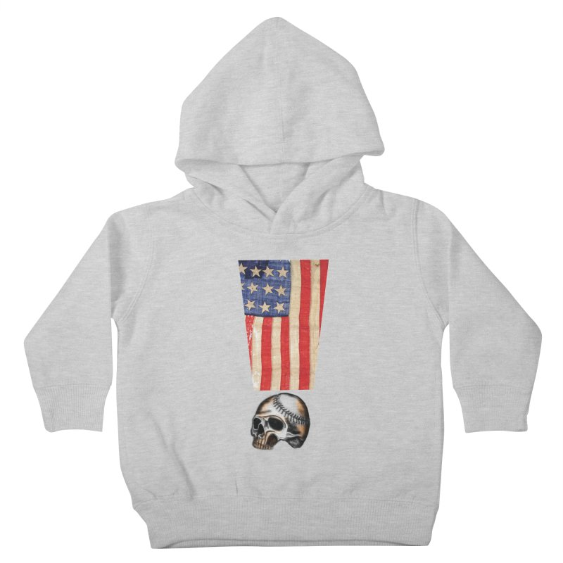 American Baseball Fan Kids Toddler Pullover Hoody by Lads of Fortune Artist Shop