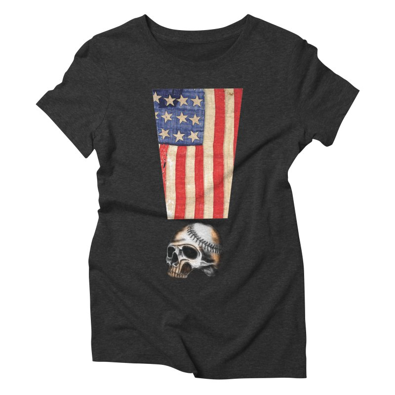 American Baseball Fan Women's Triblend T-Shirt by Lads of Fortune Artist Shop
