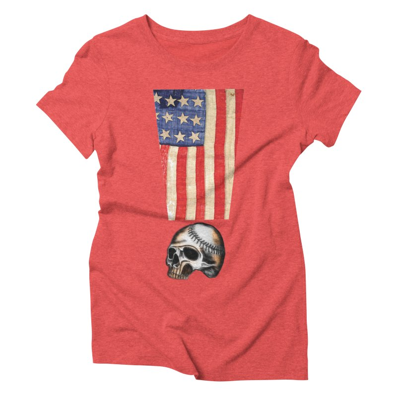 American Baseball Fan Women's Triblend T-shirt by Lads of Fortune Artist Shop