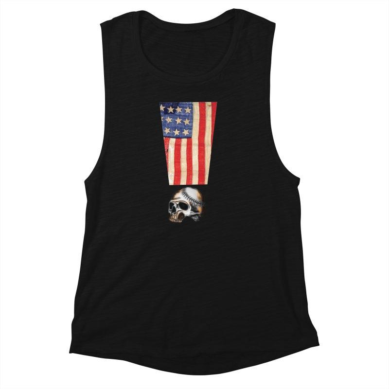 American Baseball Fan Women's Muscle Tank by Lads of Fortune Artist Shop
