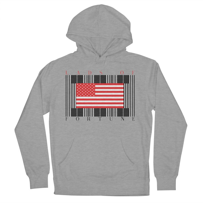 FLAGSICATION Women's French Terry Pullover Hoody by Lads of Fortune Artist Shop