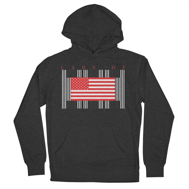 FLAGSICATION Men's French Terry Pullover Hoody by Lads of Fortune Artist Shop