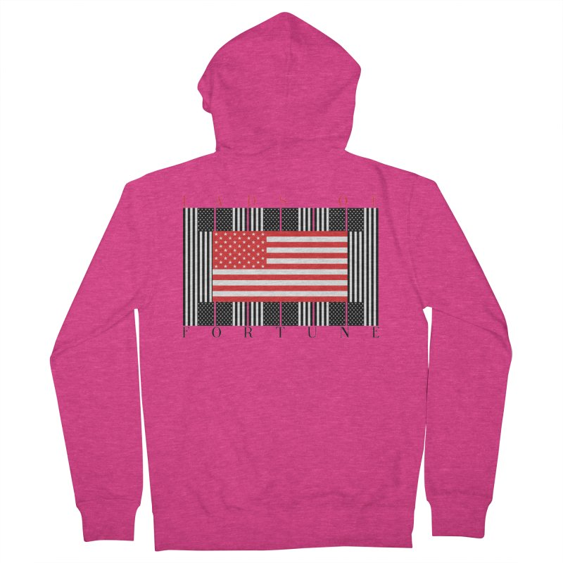 FLAGSICATION Women's Zip-Up Hoody by Lads of Fortune Artist Shop