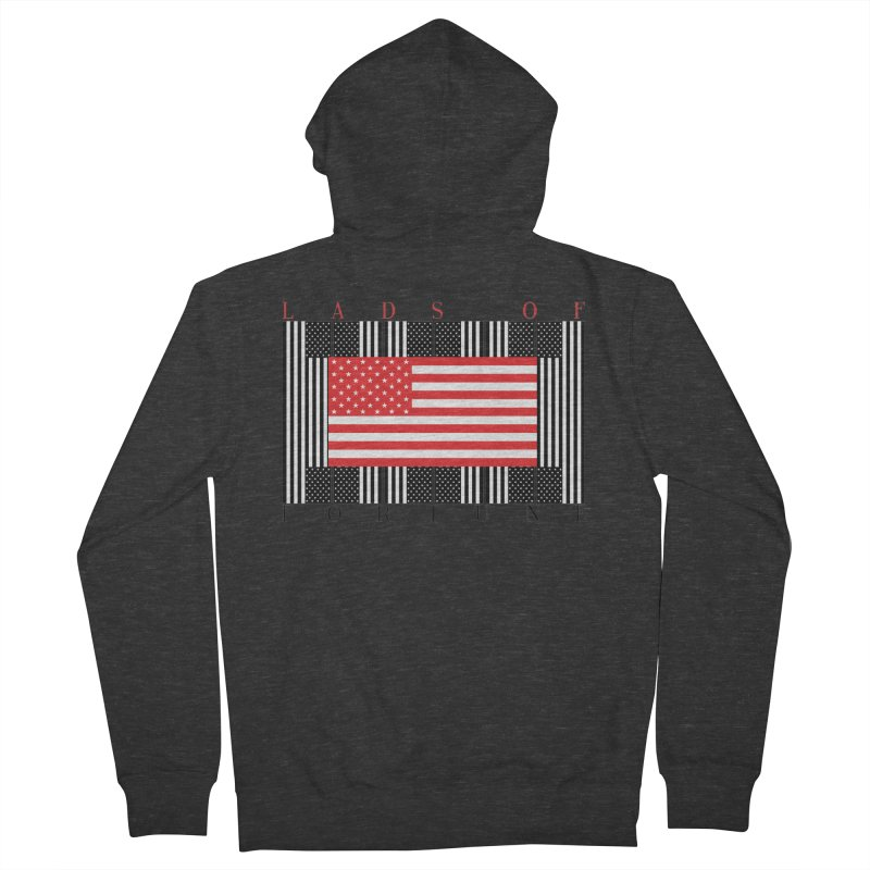 FLAGSICATION Men's French Terry Zip-Up Hoody by Lads of Fortune Artist Shop