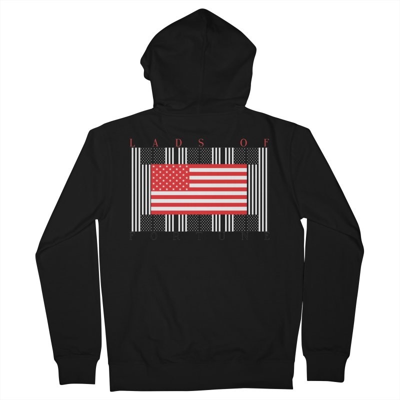 FLAGSICATION Men's Zip-Up Hoody by Lads of Fortune Artist Shop