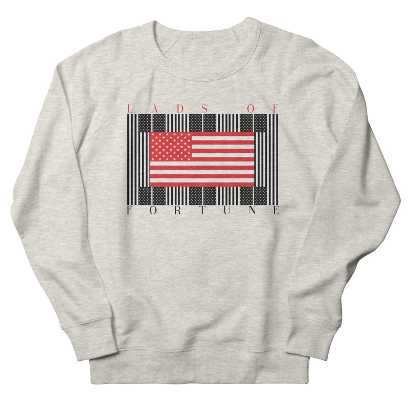 FLAGSICATION Men's French Terry Sweatshirt by Lads of Fortune Artist Shop