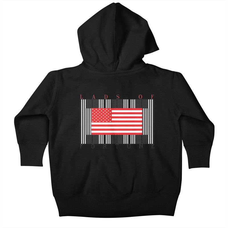 FLAGSICATION Kids Baby Zip-Up Hoody by Lads of Fortune Artist Shop