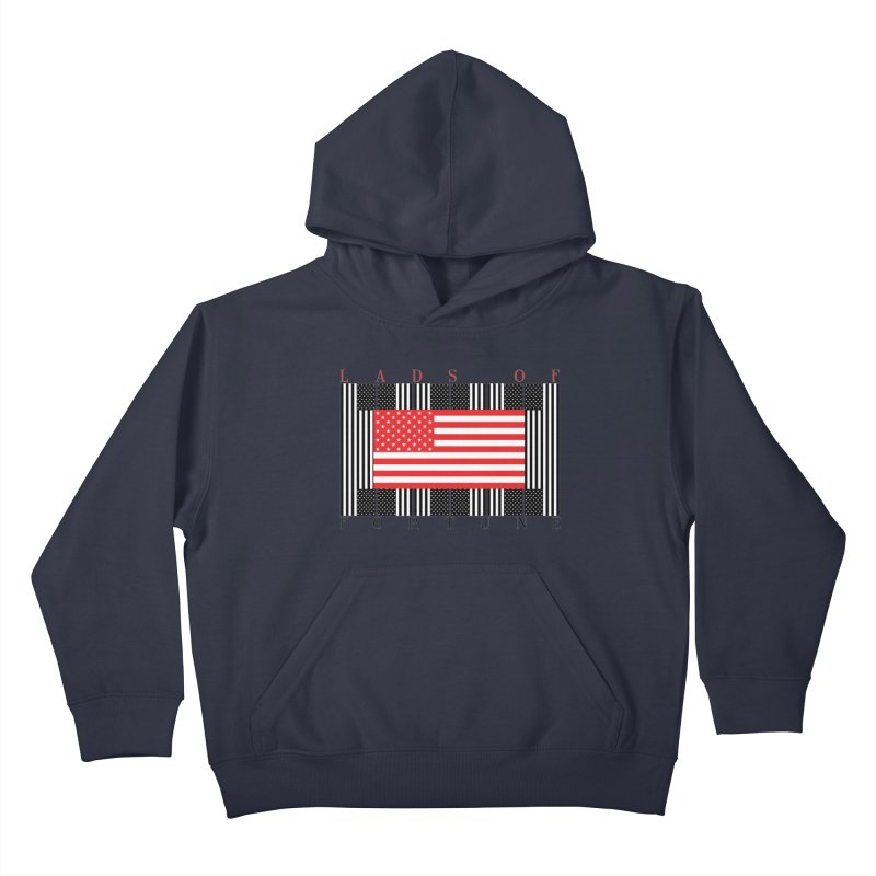 FLAGSICATION Kids Pullover Hoody by Lads of Fortune Artist Shop