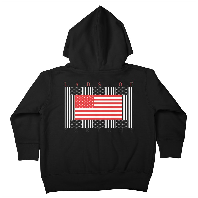 FLAGSICATION Kids Toddler Zip-Up Hoody by Lads of Fortune Artist Shop