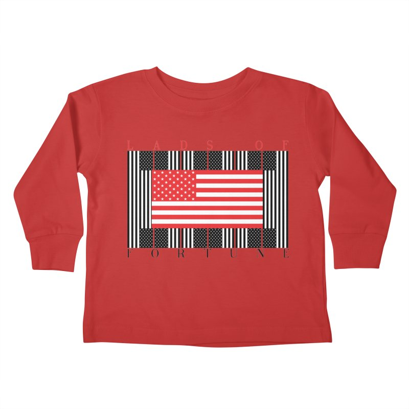 FLAGSICATION Kids Toddler Longsleeve T-Shirt by Lads of Fortune Artist Shop