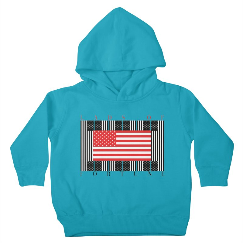 FLAGSICATION Kids Toddler Pullover Hoody by Lads of Fortune Artist Shop