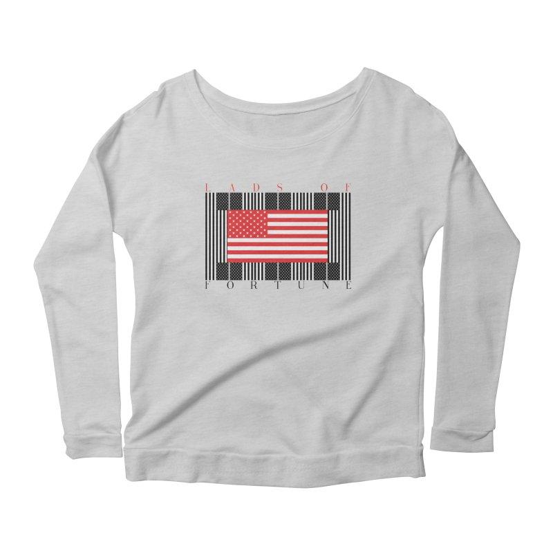 FLAGSICATION Women's Scoop Neck Longsleeve T-Shirt by Lads of Fortune Artist Shop