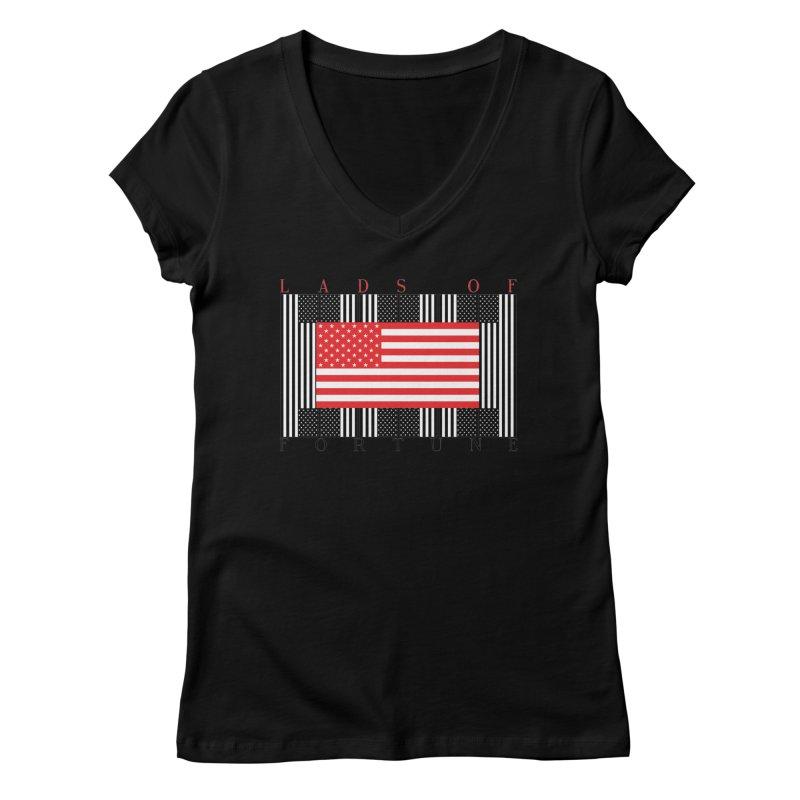 FLAGSICATION Women's Regular V-Neck by Lads of Fortune Artist Shop