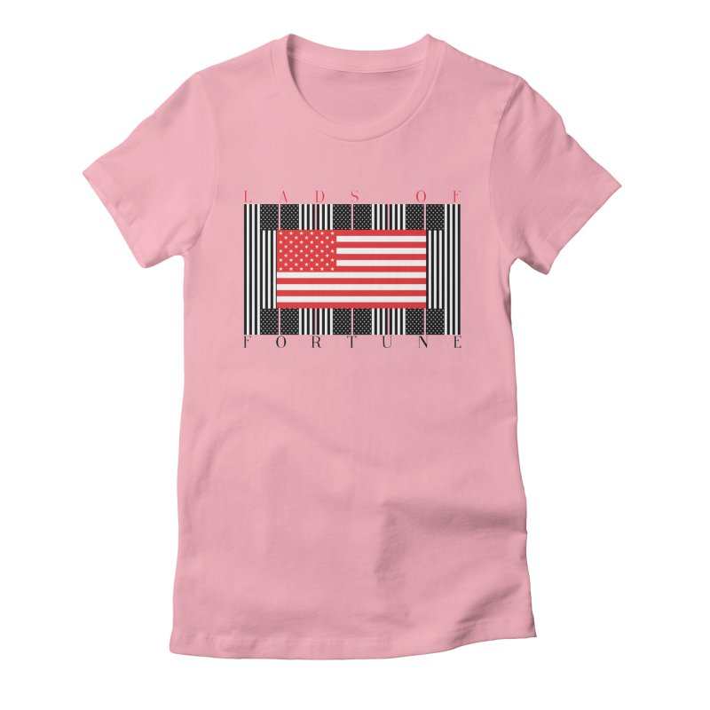 FLAGSICATION Women's Fitted T-Shirt by Lads of Fortune Artist Shop