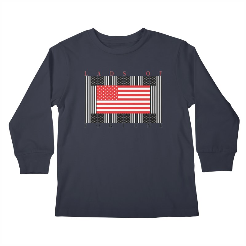 FLAGSICATION Kids Longsleeve T-Shirt by Lads of Fortune Artist Shop