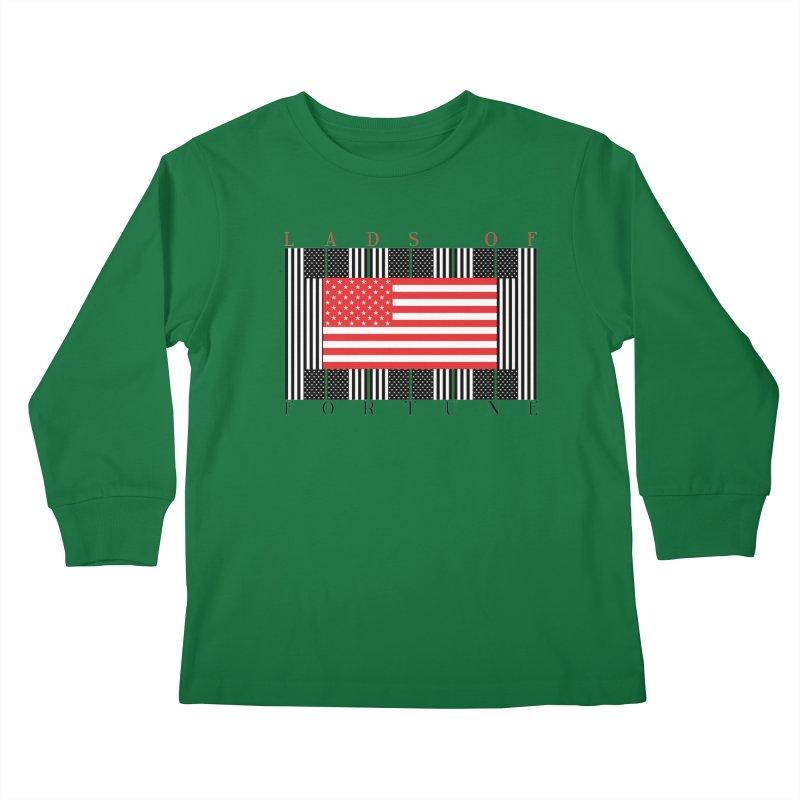 FLAGSICATION Kids Longsleeve T-Shirt by Lads of Fortune Artist Shop