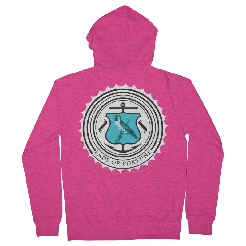 Blue Bird Women's French Terry Zip-Up Hoody by Lads of Fortune Artist Shop