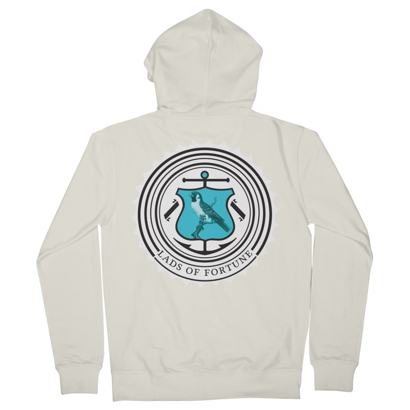Blue Bird Men's French Terry Zip-Up Hoody by Lads of Fortune Artist Shop