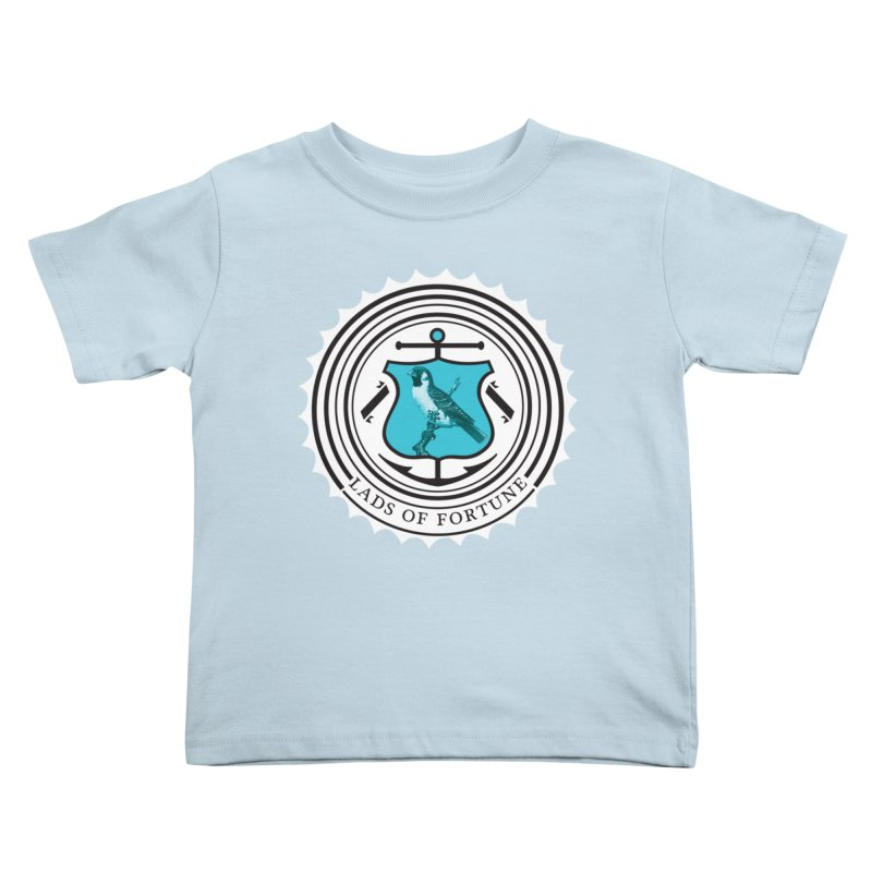 Blue Bird Kids Toddler T-Shirt by Lads of Fortune Artist Shop