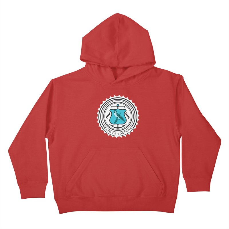 Blue Bird Kids Pullover Hoody by Lads of Fortune Artist Shop