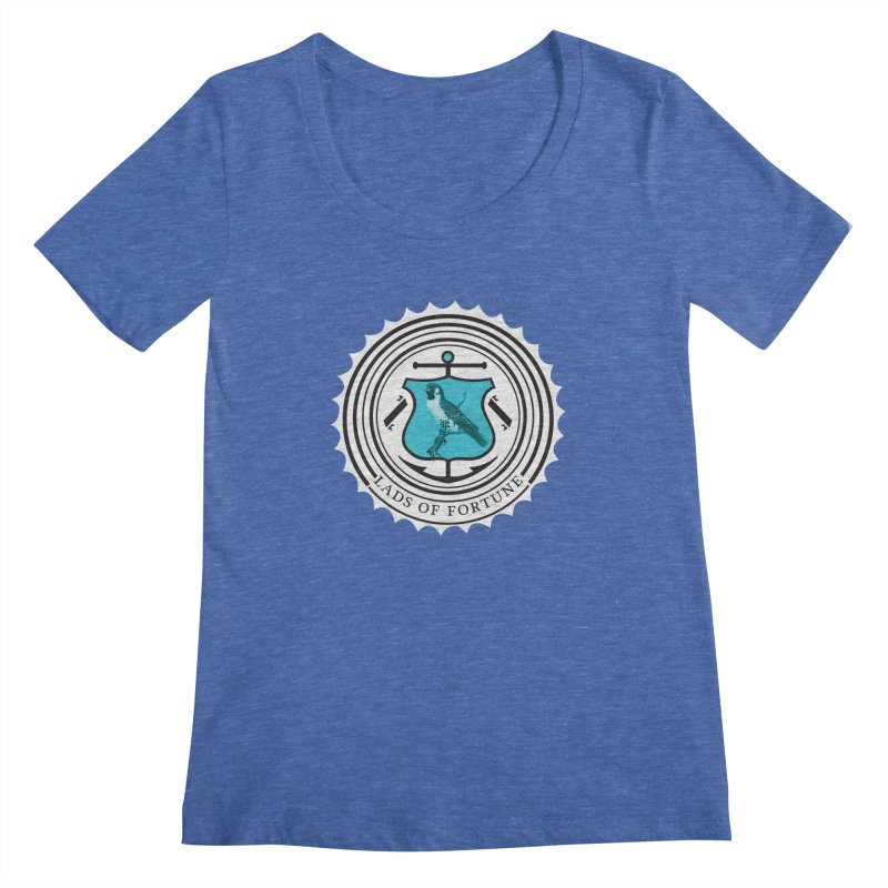 Blue Bird Women's Scoopneck by Lads of Fortune Artist Shop