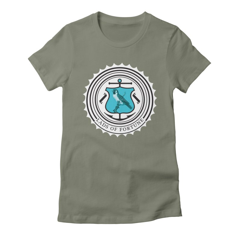 Blue Bird Women's Fitted T-Shirt by Lads of Fortune Artist Shop