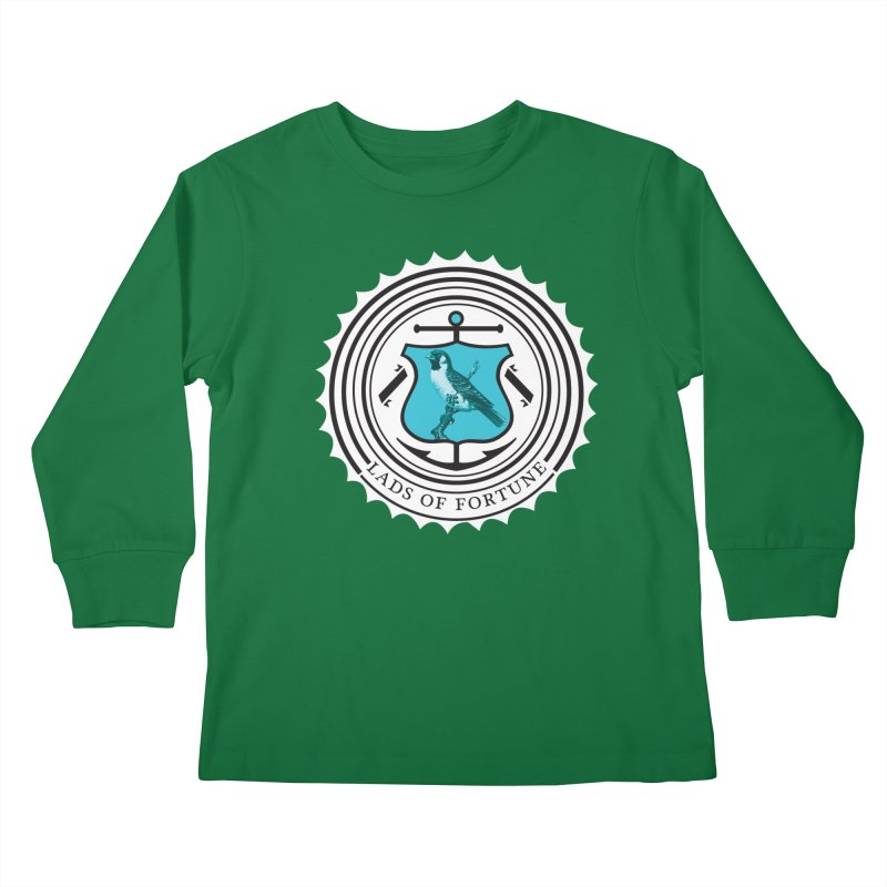 Blue Bird Kids Longsleeve T-Shirt by Lads of Fortune Artist Shop